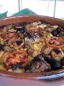 Arroz al horno con pasas y tomates de El Perelló