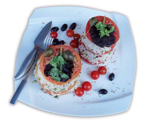 timbal de tomate con arroz