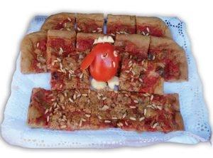 Torta de pimiento y tomate