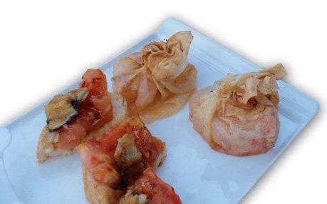 Montadito de tomate a la plancha con anguila braseada 2